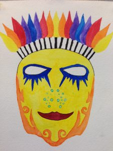 watercolor mask
